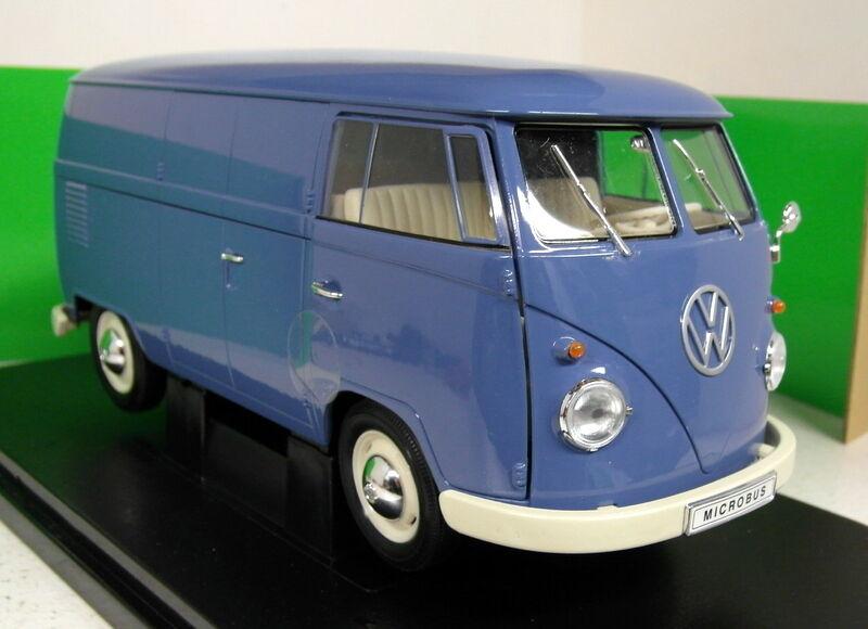 Nex 1 18 escala 18053 W 1963 Volkswagen T1 Bus Panel Van blu Diecast Modelo van