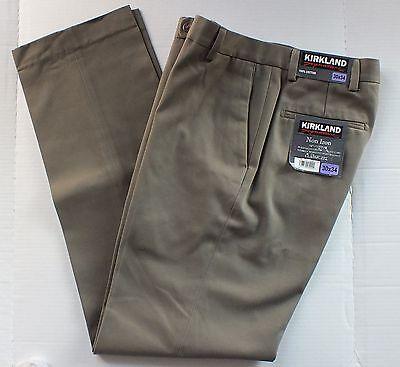 Kirkland Signature Non Iron Classic Fit Dress Pants BUNGEE 100% COTTON 30WX34L