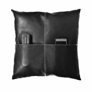 Pillow Leather Cover Cushion Cowhide Patchwork U Decor Accent Hair Couch Grain10