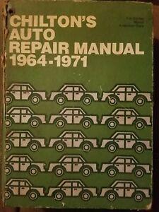 Auto Repair Manuals Free >> Details About Chilton S Auto Repair Manual 1964 1971 Fast Free Shipping
