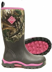 2115f9ff440 Details about WDW-4RTX Muck Boots Women's Woody Max Realtree XT Pink Camo  Most Sizes