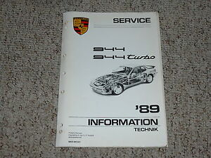 1989 porsche 944 turbo shop service repair workshop manual coupe rh ebay com Porsche 944 Owners Manual PDF Porsche 944 Owners Manual PDF