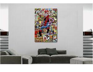 The Amazing Spiderman Marvel Comics Super Hero Collage Canvas Wall Art Print