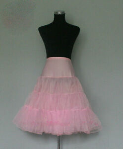 Lady-50-039-s-PINK-Underskirt-Rock-n-039-Roll-Petticoat-TUTU-26-034-FREE-P-amp-P