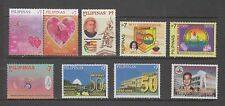 Philippine Stamps 2008: 9 different Commemoratives, Complete sets Mint NH