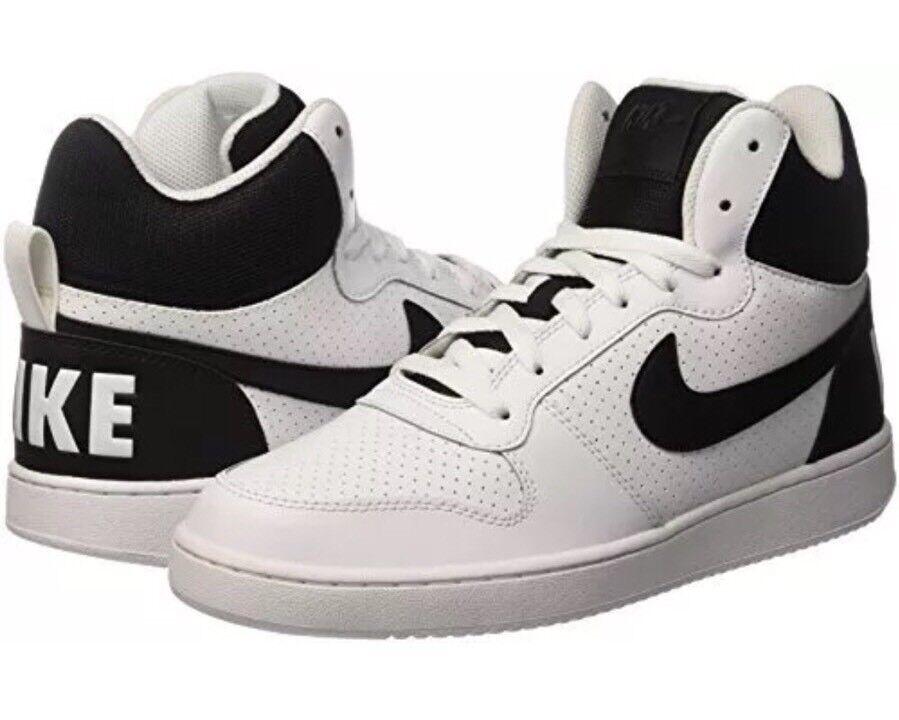 Nike Court Bgoldugh Mid Black White Men's Size 10 10 10 Lace Up Sneaker 838938-100 cf1588