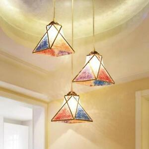 Details About Pendant Lamp Modern Rainbow Lights Colored Hanging Lighting Home New