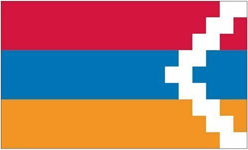 Bandiera//bandiera Repubblica Nagorno  Karabah hissflagge 90 x 150 cm