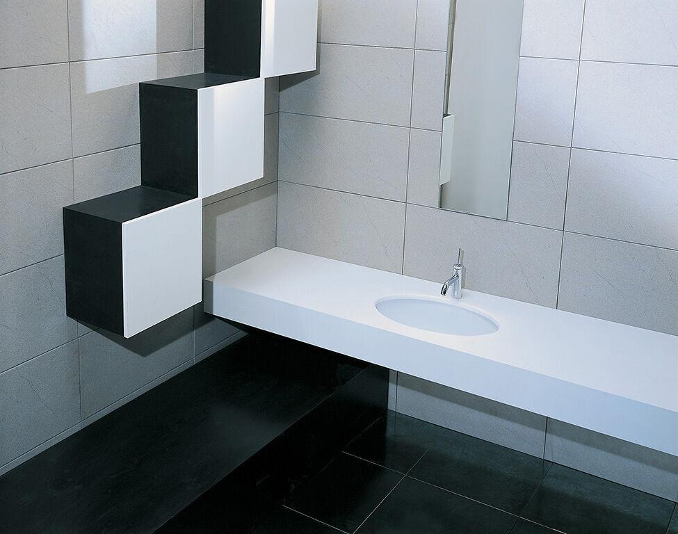 Lavandino Lavabo Sottopiano Design Moderno  Diana  In Ceramica Bianco 58x41x21,5