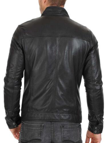 URBAN Men 100/% Leather Jacket Motorcycle Slim fit Biker Genuine lambskin jacket