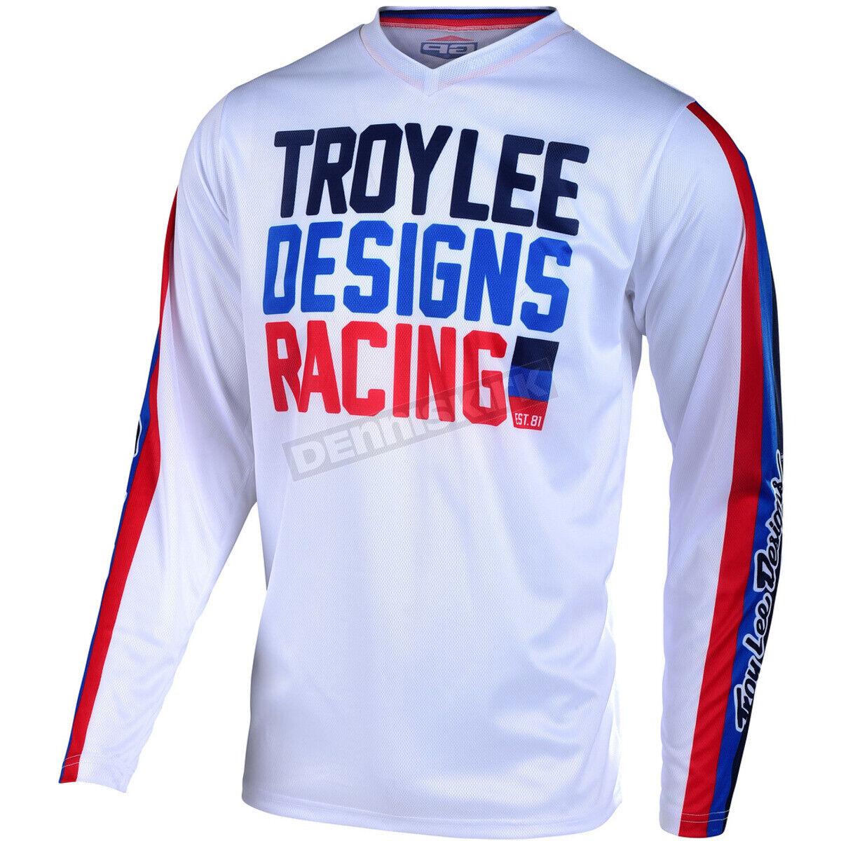 maglia motocross enduro GP Air Premix 86 Troy Lee Designs TLD 30496400 bianco