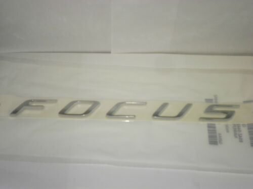 OEM FORD FOCUS CHROME LIFTGATE TRUNK DECK LID NAME PLATE EMBLEM  8S4Z-5442528-AA