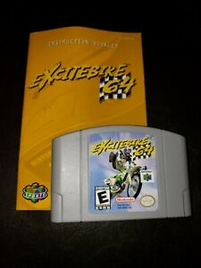 Excite-Bike-64-Nintendo-64-Authentic-Game-Cartridge-Only-Tested-Works-N64