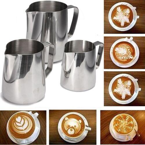 Milk Frothing Pitcher Art Jug Mug Creamer Latte Coffee Craft Cup Stainless Steel
