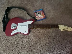 Fender-Jaguar-Wireless-Guitar-PS4-Red-PlayStation-4-w-Rock-Band-4-Video-Game