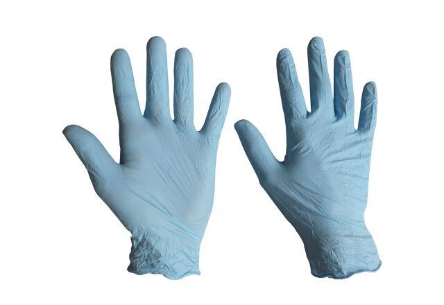 100 Einweg-Nitril-Handschuhe gepudert HP-L1090 Größe:L zum Arbeiten mit EP & UP