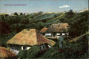 1916-Feldpostkarte-Ostfront-Polen-Polnische-Bauerngehoefte-Warszawa-ab-WARSCHAU