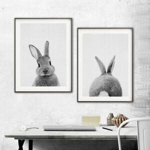 Nordic-Rabbit-Print-Poster-Wall-Art-Animal-Painting-Living-Room-Decor-Latest