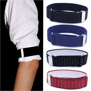 Men-Armband-Adjustable-Elastic-Shirt-Garter-Sleeve-Hold-Up-Holder-Cuff-Accessory