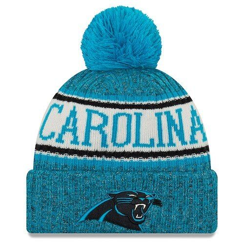 Youth Carolina Panthers Era Knit Hat on Field 2018 Sideline Beanie Cap  9ba7181135ea