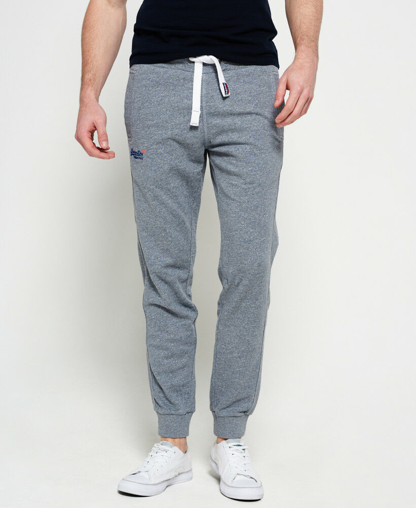 Superdry Men's Pearl bluee Grit orange Label Slim Jogger Pant