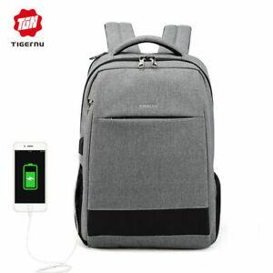 Tigernu 15.6 laptop backpack usb charging  men waterproof anti-theft school Bag