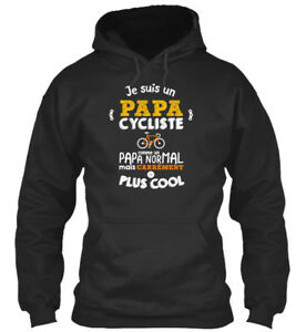Discret Un Papa Cycliste CarrÉment Plus Cool Sweat à Capuche Confortable