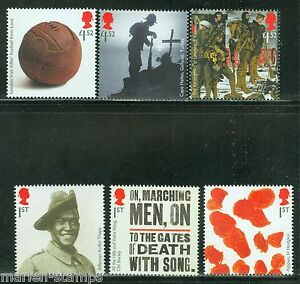 GREAT-BRITAIN-2015-WORLD-WAR-I-THE-GREAT-WAR-SET-OF-SIX-STAMPS-MINT-NEVER-HINGED