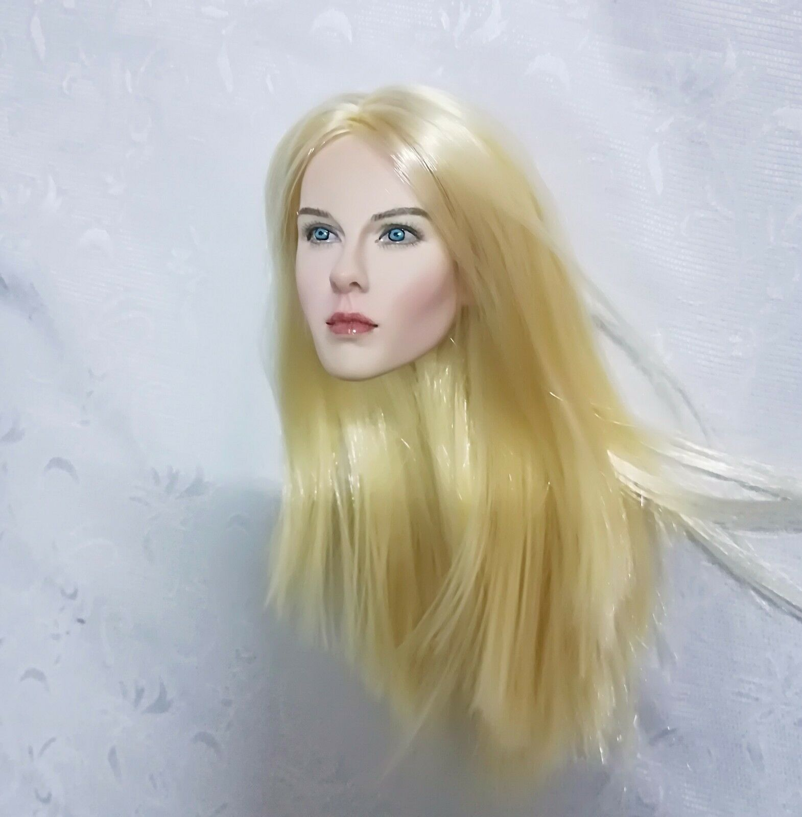 Ge Li Fang 1 6 Scale Figures The X-Files X-Files X-Files Head For 12  bluee Eyes Straight Hair d4881e
