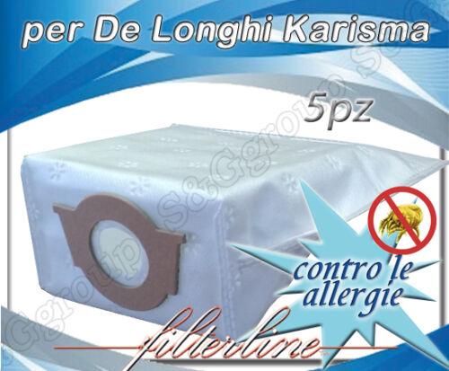 D323MF 5 sacchetti filtro microfibra aspirapolvere De Longhi Karisma XL 3000 PE