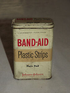 VINTAGE FIRST AID MEDICAL JOHNSON & JOHNSON BAND-AID   TIN