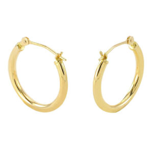 Details About Men S 925 Sterling Silver 14k Gold Hoop Earrings