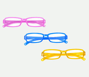 280ad52a0def 3pc Set Pink Yellow Blue Color Doll Eye Glasses For 18 inch American ...