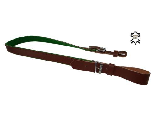 Gewehrriemen aus Leder in Braun Dunkelbraun Tragegurt Gewehrgurt Gewehrgurt 93cm