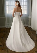 Authentic Mori Lee NWOT Wedding Dress Size 16 style 6712 Ivory Free shipping
