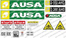 AUSA D350 AHG Dumper DECALCOMANIE ADESIVO Set