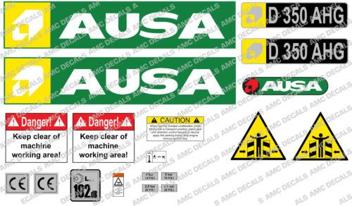 AUSA D350 AHG DUMPER DECALS STICKER SET