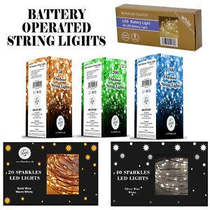 20-40-50-80-100-Batterie-DEL-Fairy-Lights-String-Fete-de-mariage-Decorations-Cuivre
