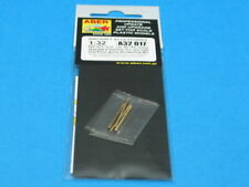 12.7mm Aber 1//32 Set of 6 Turned U.S Browning M2 Barrels for P-51 Must Cal.50