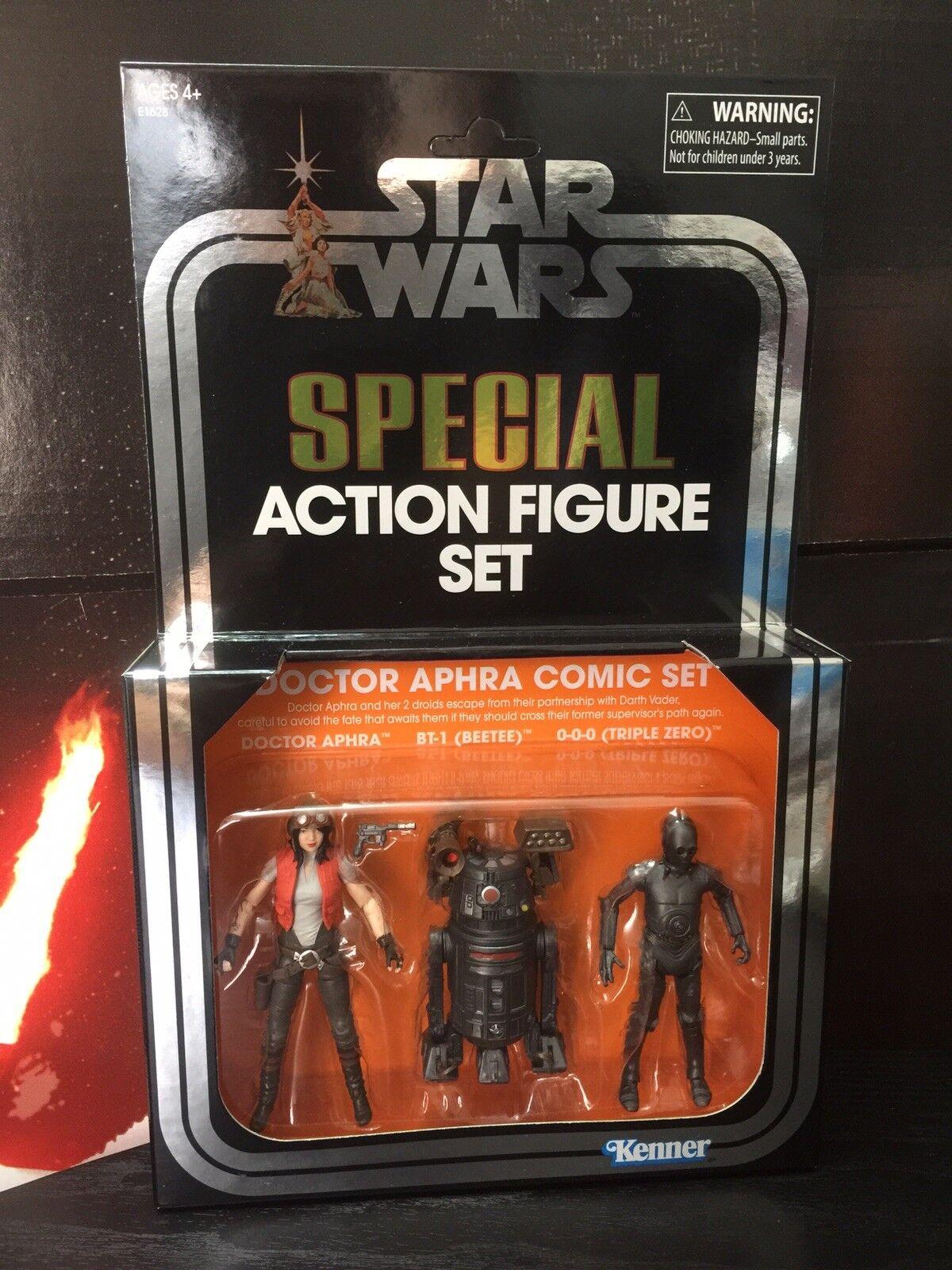 Star - wars - vintage - kollektion sdcc exklusive 2018 - arzt aphra comic figure set