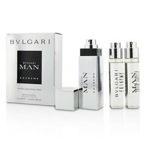 Bvlgari Man Extreme The Refillable Edt Travel Spray 3x15ml Mens
