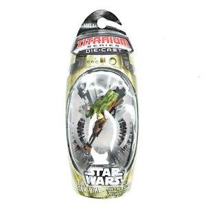 Star-Wars-Titanium-MicroMachines-Leia-039-s-Speeder-Bike-2006-NEW