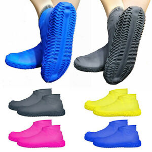 1 Pair Rubber Reusable Latex Waterproof Rain Shoes Covers Slip-resistant Rain