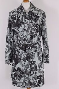 TED-BAKER-Ladies-LAPPET-Floral-Pattern-TRENCH-COAT-Ted-Size-3-UK-12-M-Medium