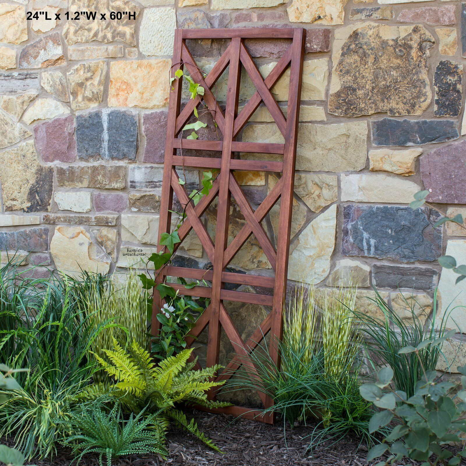 Garden Trellis Acacia Wood Wall Fence Outdoor Yard Art Decor