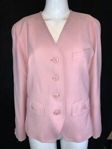 Austin Reed Of Regent Street Women S Pure New Wool Pink Long Sleeve Jacket Uk 14 Ebay