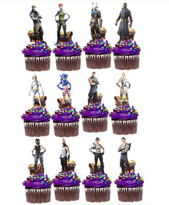 FORTNITE black  cupcake wrappers x12