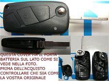CHIAVE COVER NERA TELECOMANDO FIAT BRAVO DUCATO GRANDE PUNTO QUBO LANCIA Y