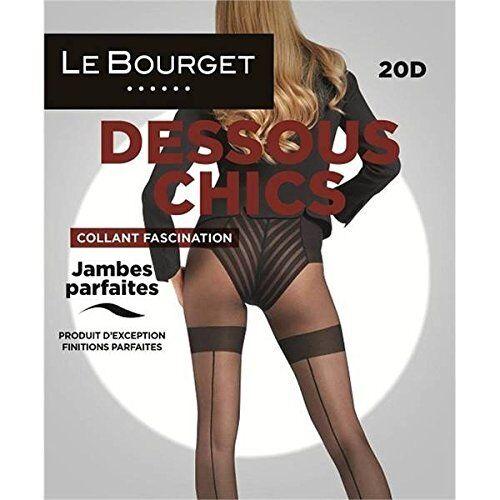 collant LE BOURGET noir couture slipé 20d T4 strumphose seamed pantyhose ec97