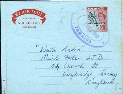 Karibik Jamaica Aerogramm 1963 Nach Großbritannien Gehorsam 426568 Briefmarken